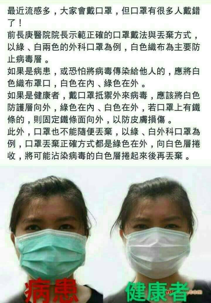 【假LINE】口罩戴法正反面這樣戴?病患和健康者不同戴法?食藥署:沒這回事!|Zi 字媒體