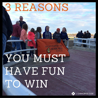 Caroline's Cues | 3 reasons you must have fun to win