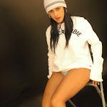Andrea Rincon, Selena Spice Galeria 19: Buso Blanco y Jean Negro, Estilo Rapero Foto 77