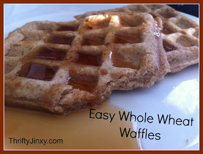 Easy Homemade Whole Wheat Waffles Recipe