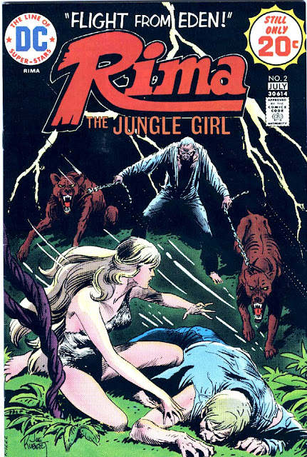Rima the Jungle Girl v1 #2 dc bronze age comic book cover art by Joe Kubert
