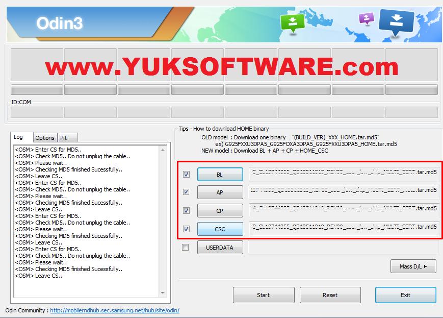 Kumpulan Firmware Samsung Full Terpisah 4 Files Repair - YUKSOFTWARE