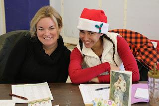Erin Lynch, left, Franklin Food Pantry Executive Director, and Ellie Teixeira, lead Food Elf