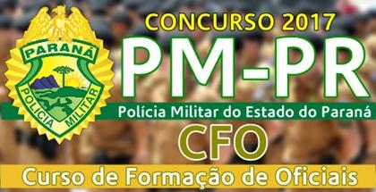 Concurso PMPR 2017 CFO
