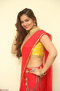 Actress Ashwini in Golden choli Red saree Spicy Pics ~  112.JPG