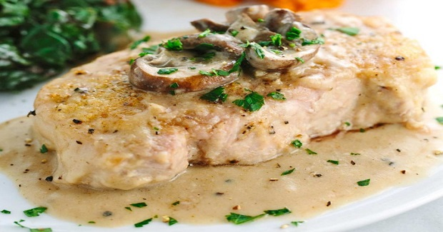 Smothered Pork Chops With Mushroom Gravy Recipe