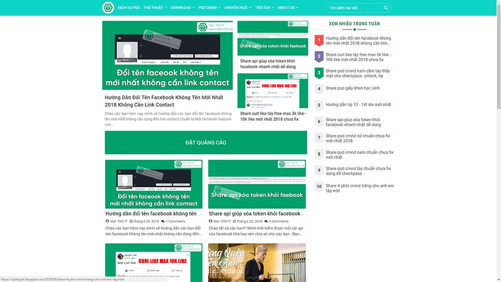 Bán Template blogspot Sparks Premium edited v3.5 cá nhân chuẩn seo