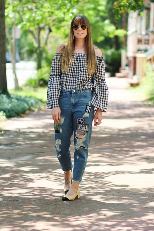 Gingham Top- WhoWhatWear