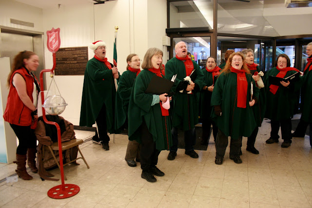 Stairwell Carolling in the Rideau Center, 2011