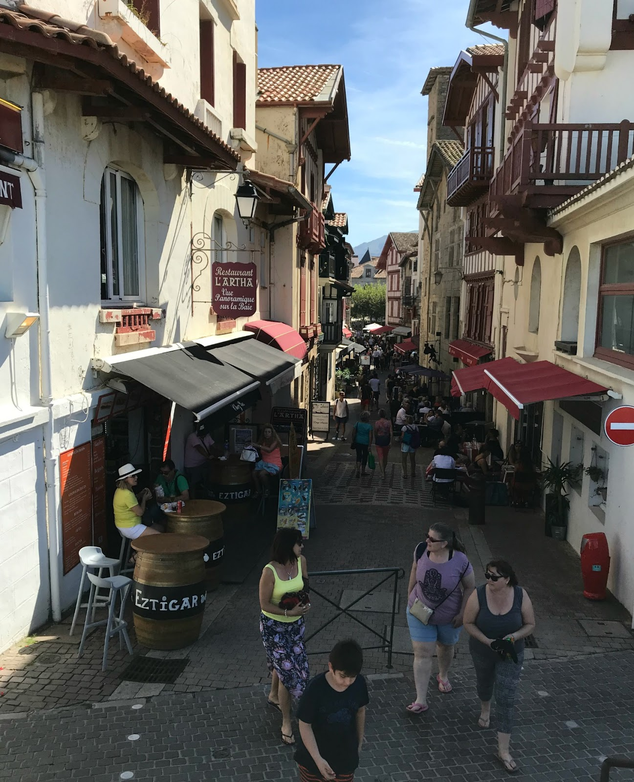 Main restaurant street in St-Jean-de-Luz old town