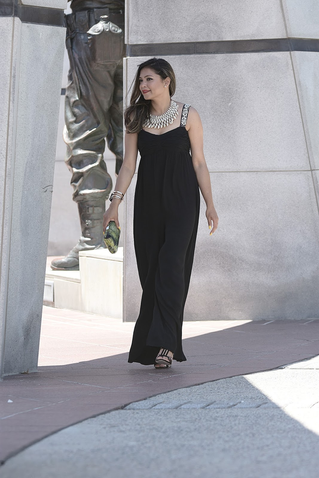 what to wear to a wedding at the beach, black tie, black jumpsuit zara, sequin strap jumpsuit, black dress, LBD, fashion , stylist, street style, myriad musings