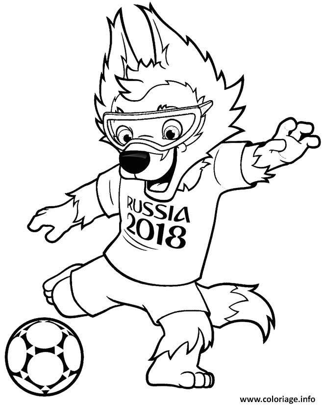 Coloriage De La Coupe De Football 2018 Coloriage A Imprimer Gratuit
