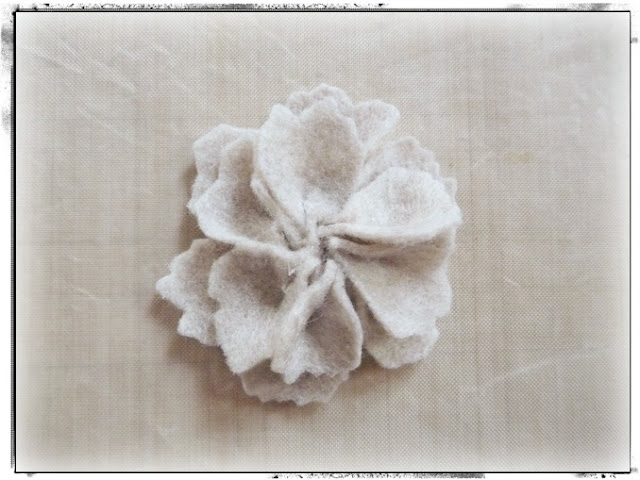 Layered Felt Flower Petals by Dana Tatar