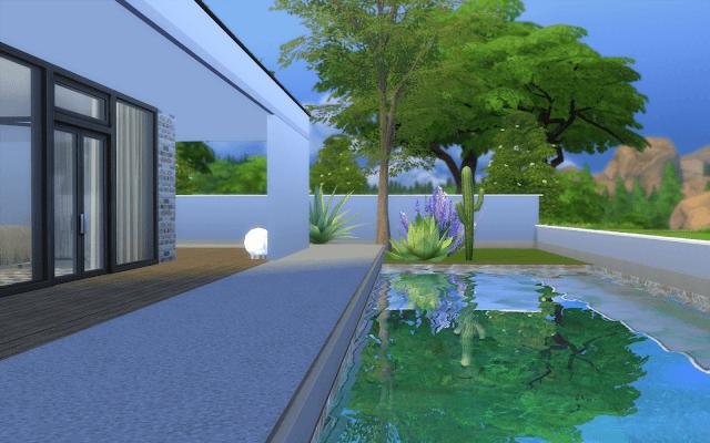 villa piscine sims 4