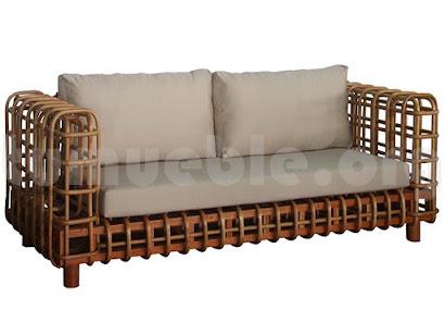 sofa 3 plazas rattan j444