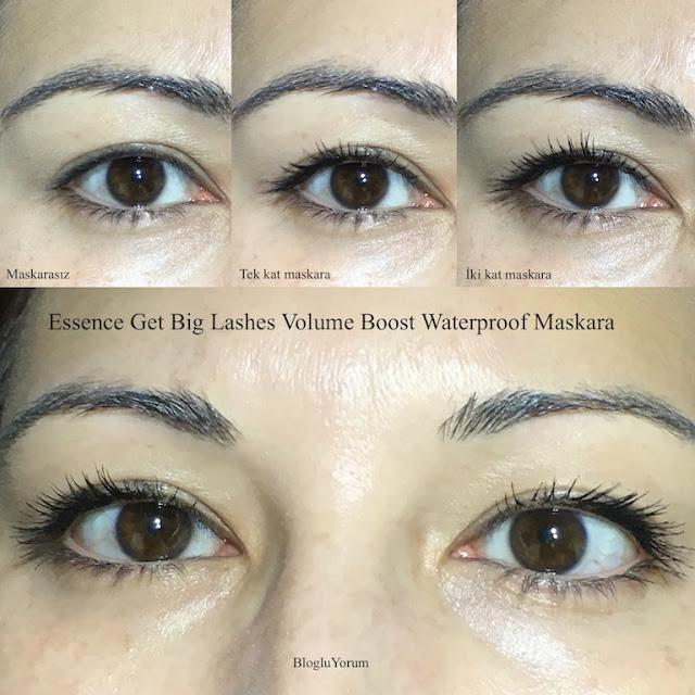 Essence get big lashes volume boost waterproof maskara swatch