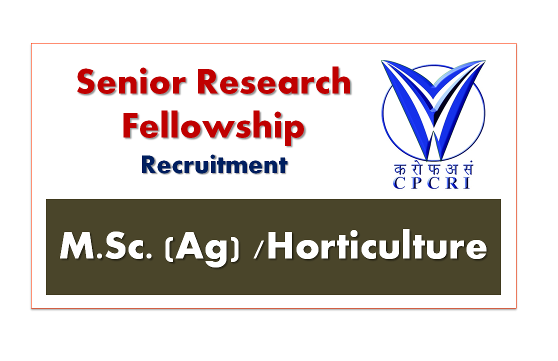 Senior Research Fellow Recruitment Central Plantation ...