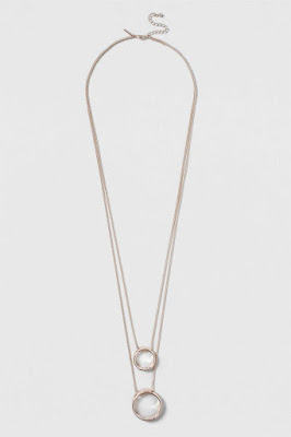 Topshop Circle Rhinestone Necklace $11 (reg $22)