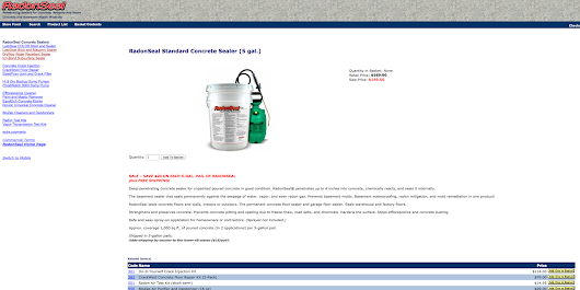Radon Gas and Water Vapor Sealers for Concrete, Brick, and Masonry