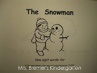 Winter themed sight word book