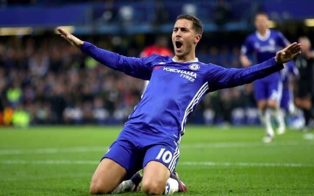 Eden Hazard Celebrates Chelsea FC goal