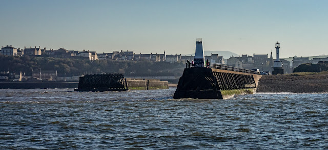Photo of Maryport piers from the Solway Firth
