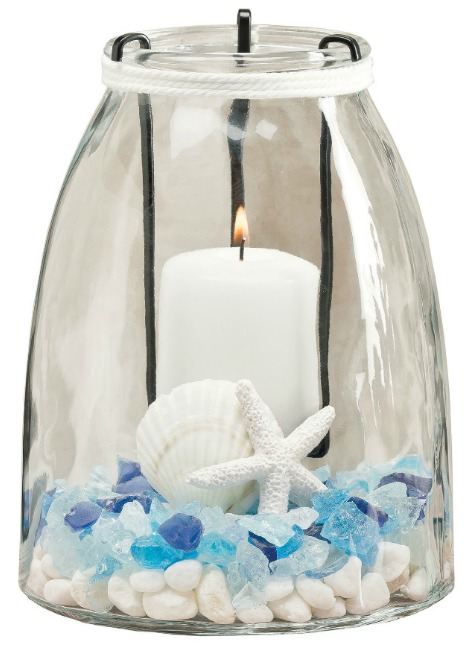 Glass Candle Holder with Inserts