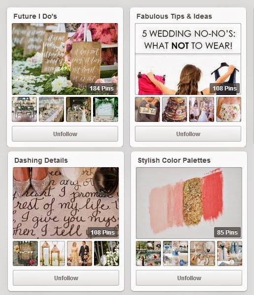 Wedding Pinterest Boards to follow | The Bridal Detective | DollfaceBlogs