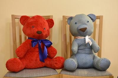 2 handmade teddybears