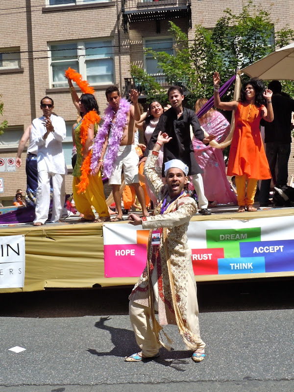 33rd Vancouver Pride Parade Indian float