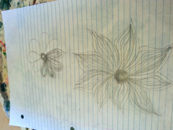 Flower sketches | DevotedQuilter.blogspot.com