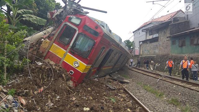 KRL Anjlok, Commuterline ke Bogor Hanya Sampai Stasiun Depok