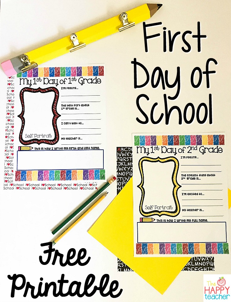 image regarding First Day of 1st Grade Printable named Initially Working day of Faculty \