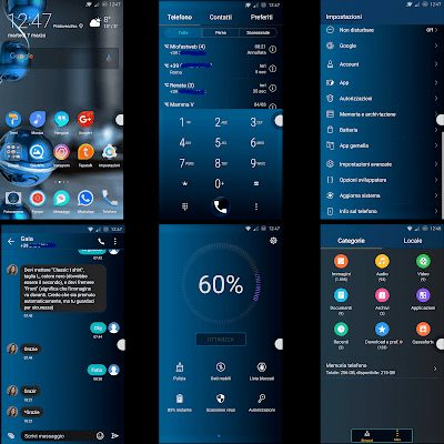 Download Tema Untuk Huawei : Sapphire Dark for EMUI 5.0/5.1 Huawei Themes