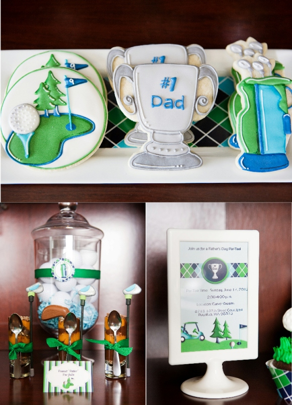 Golf Party Ideas and Sweet Cookies  - via BirdsParty.com