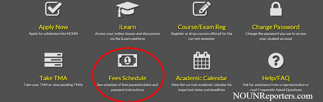 The Noun School Fees payments and Schedule