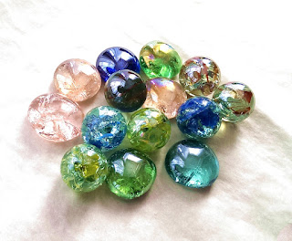 Crackled Glass Marbles