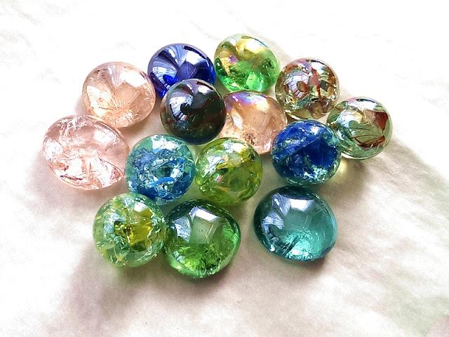 Crackled Glass Marbles