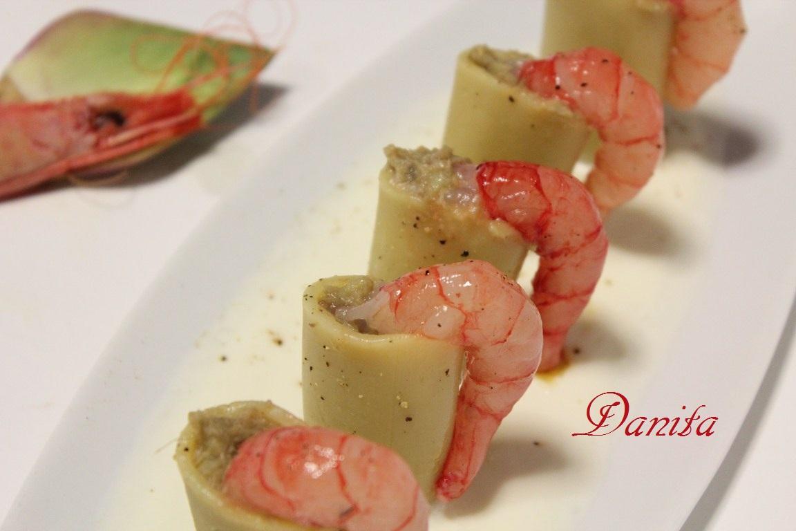 Le leccornie di Danita Paccheri ripieni di carciofi con