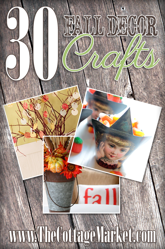 A collection of 30 fall crafts from bloggers to add some fall flair to your home
