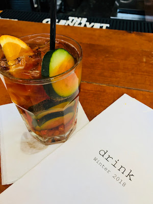 Pimms Cup at The Continental, East Village, Des Moines