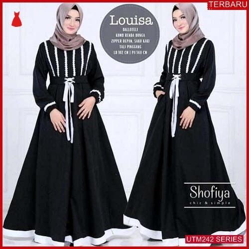 UTM242L64 Baju Louisa Muslim Dress UTM242L64 0F2 | Terbaru BMGShop