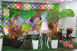 Ideias de Festa Infantil da Dora Aventureira