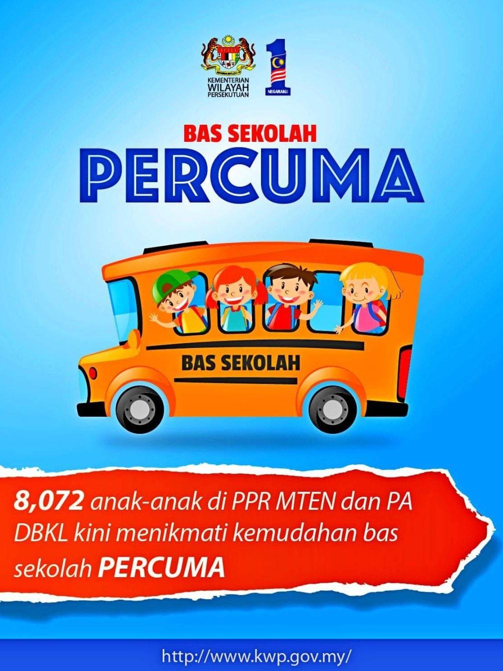 Kemudahan Bas Sekolah Percuma Untuk PPR & PA!