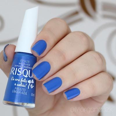 "Esmalte ""Pirulito língua azul"" da Risqué"