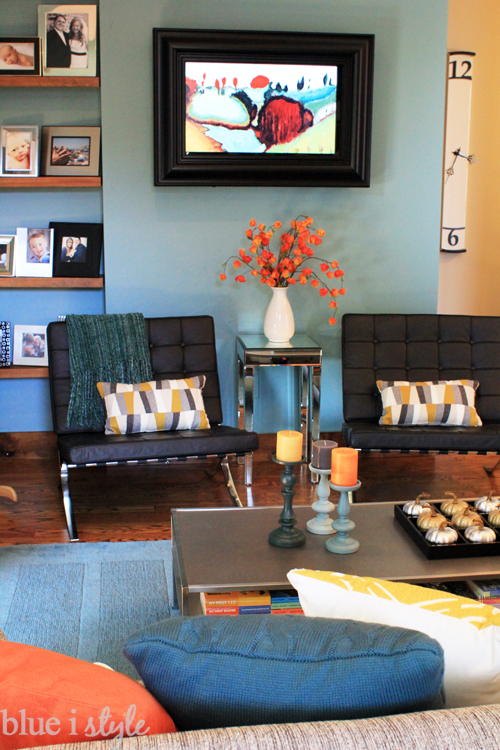 Perfect Seasonal Style Fall Home Tour Blue I Style Creating An Organized Pretty  Happy. Fall Living Room Decor. ...