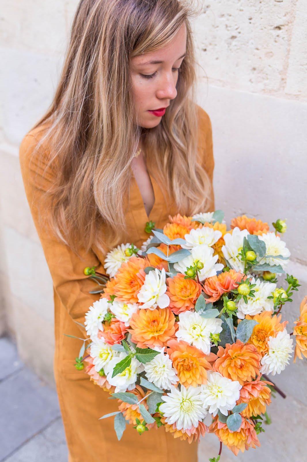 Bouquet de dahlia fleur préférée