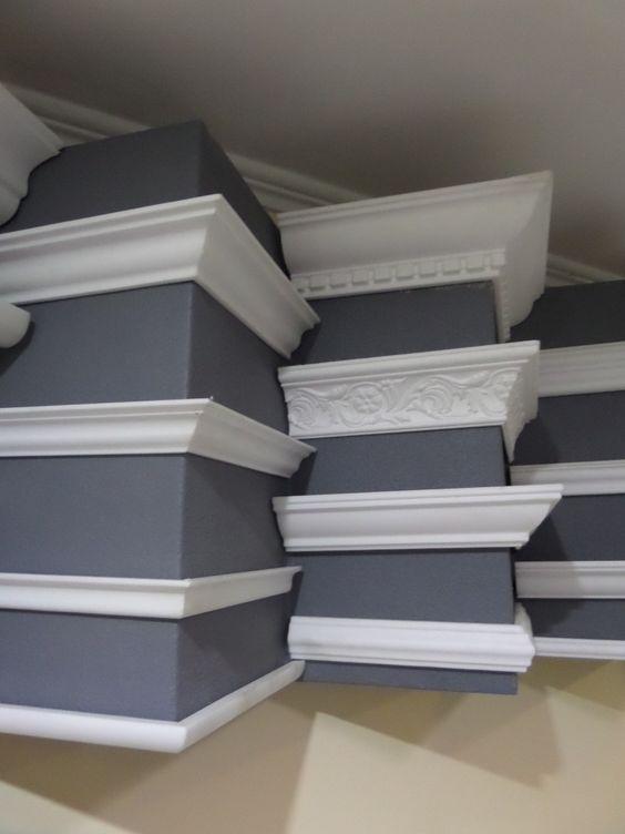 30 diy adhesive ceiling mount crown molding decor units - Molduras decorativas poliestireno ...