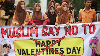 Muslim Say No To happy valentines day 2018