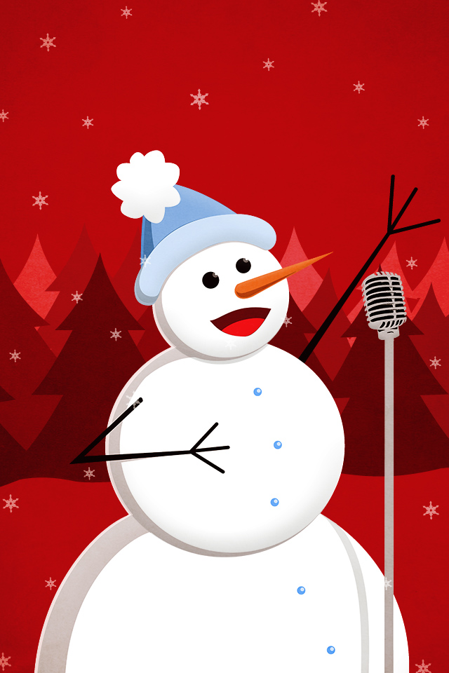 Snow Falling Wallpaper For Ipad My Grinning Mind Christmas Happy Singing Snowman